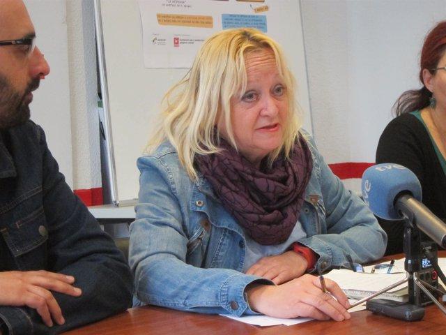 La secretaria general de CCOO de Extremadura, Encarna Chacón