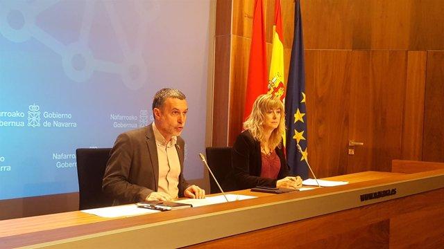 Miguel Laparra y Ana Ollo.