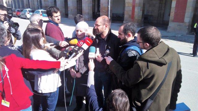 Alcaldesa de Badalona, Dolors Sabater; alcalde de Sabadell, Maties Serracant