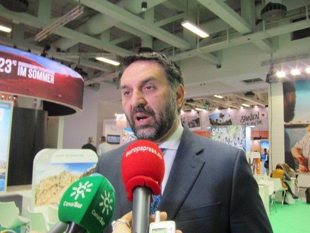 El consejero de Turismo de Andalucía, Francisco Javier Fernández, en Berlín