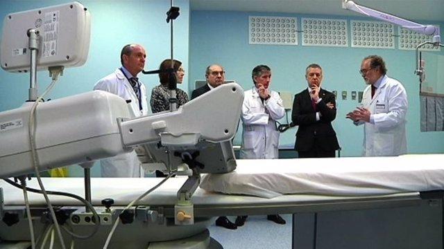 Urkullu en el Hospital de Galdakao