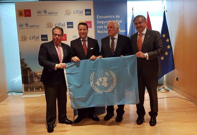 Gregorio Serrano (DGT), Mejía (ONU), Espinosa (Marca España) y C. Sanz (RACE)