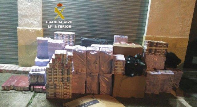 Cajetillas de tabaco aprehendidas en San Roque