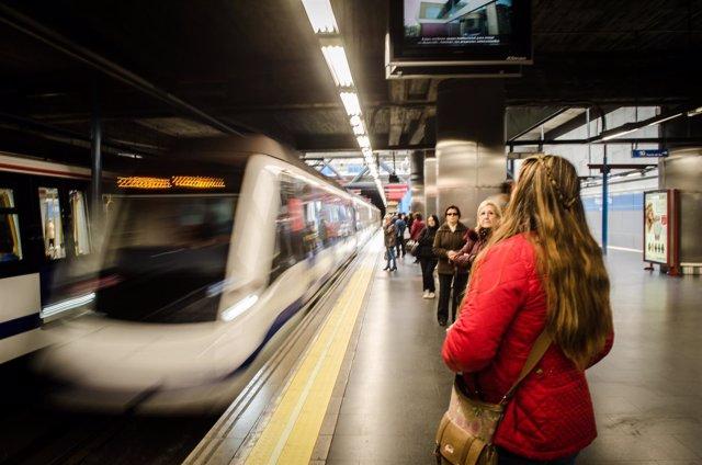 Metro de Madrid, Principe pío, vías de metro, estación de metro