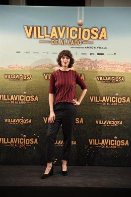 Belén Cuesta en la presentación de Villaviciosa de al lado