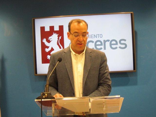 Rafael Mateos,  concejal de Seguridad Ciudadana Cáceres