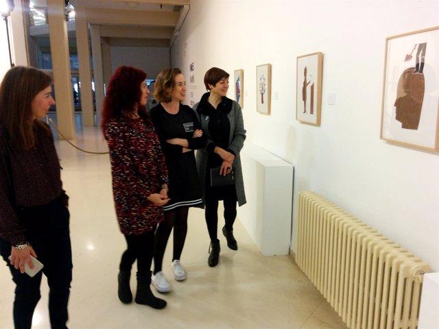 Gamarra, Montes, Baldor y Marín recorren la exposición