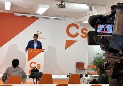 Marín (Cs) saluda que PSOE-A convoque el día 15 a los partidos para presentar una propuesta sobre la reforma electoral