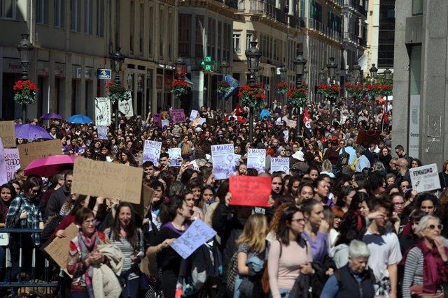 Concentración 8 de marzo en Málaga