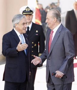 Don Juan Carlos Con Sebastián Piñera