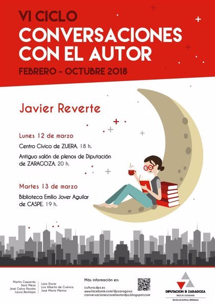 El escritor Javier Reverte se encontrará con sus lectores en Zuera, Caspe y la capital aragonesa