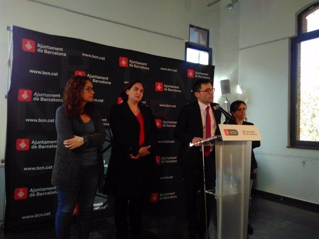 L.Perez, A.Colau. D.Elvira y G.Tarafa