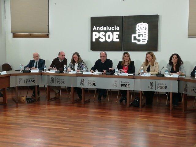Reunión de la Ejectutiva del PSOE-A, presidida por Susana Díaz