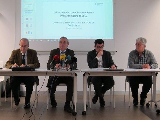 A.Carrera, M.Guinjoan, X.Cuadras y J.Goula (Col.Economistas)