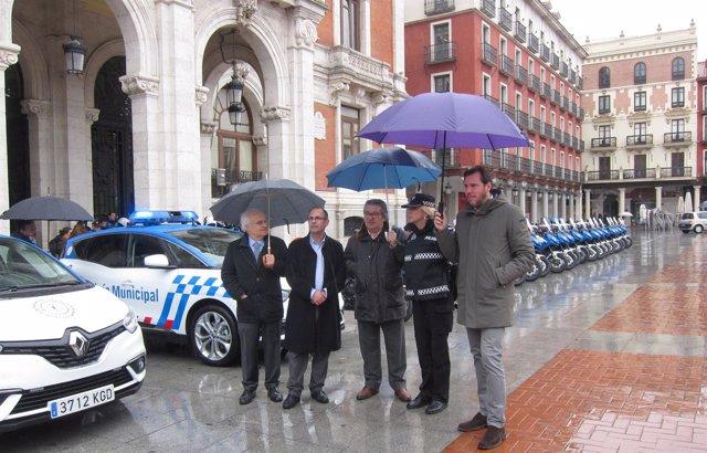Presentación de nuevos vehículos de la Policía Municipal