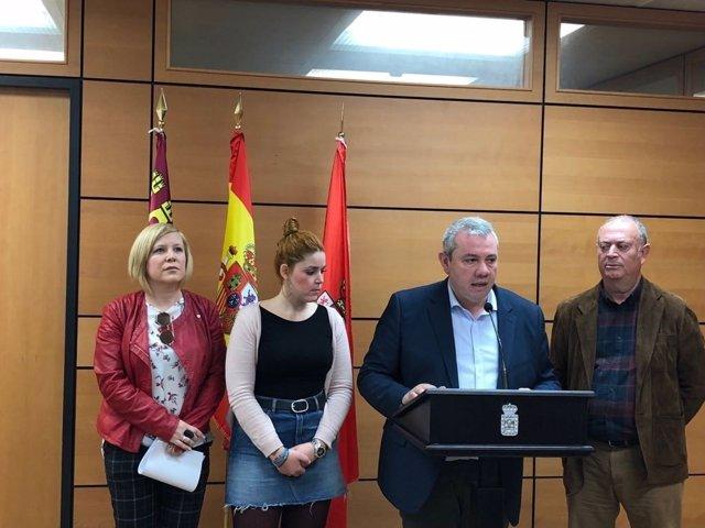 Rueda de prensa de los ediles del PSOE