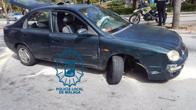 Vehículo fugado en Málaga capital