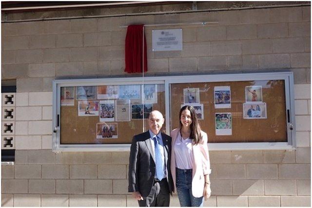 Alejandra Quereda en su colegio en Alicante