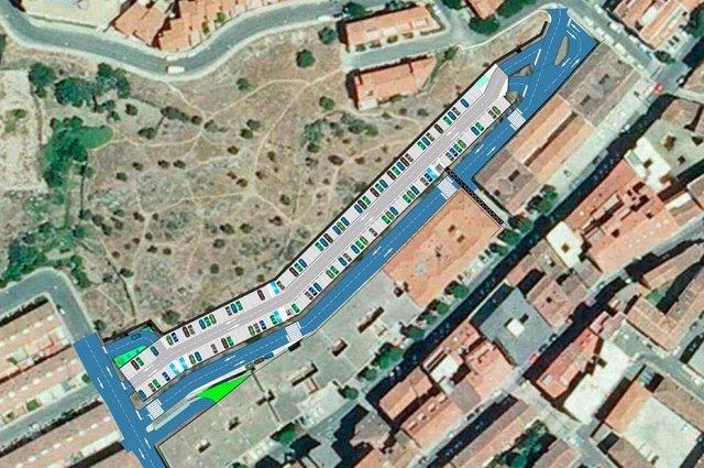 Plano del nuevo aparcamiento de Plasencia