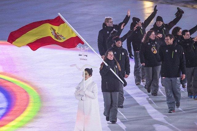 Astrid Fina abandera la delegación española en la Apertura de Pyeongchang 2018