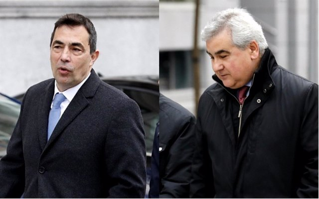 Pere Soler y César Puig llegan a la Audiencia Nacional para declarar