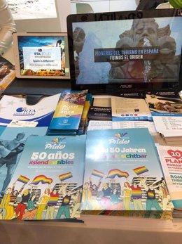 Presentación en la ITB del Pride de Torremolinos 2018 día orgullo LGTBI
