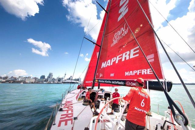 Regata de entrenamiento a bordo del MAPFRE en Auckland Volvo Ocean Race