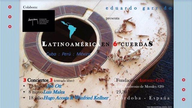 Cartel del ciclo 'Latinoamérica en 6 cuerdas'
