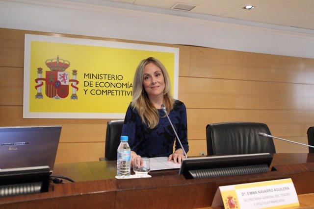 La secretaria general del Tesoro y Política Financiera, Emma Navarro
