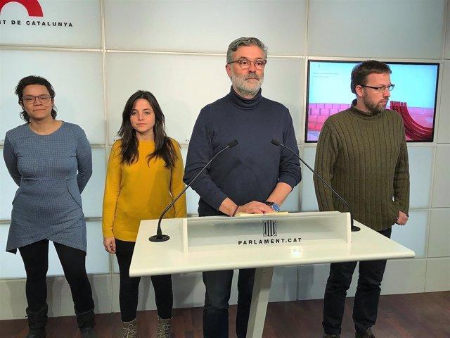 Carles Riera, Maria Sirvent, Vidal Aragonés, Natàlia Sànchez (CUP)