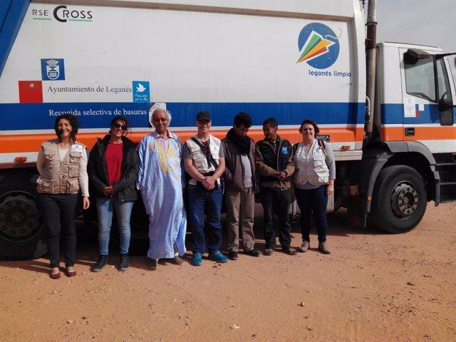 Leganés dona un camión de recogida de basura al Sáhara