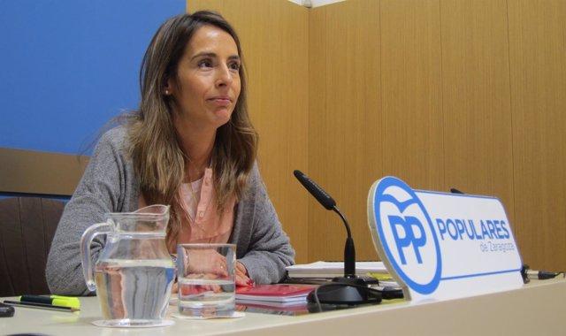 La concejal del PP Zaragoza María Navarro.