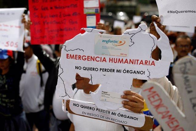 Protesta en Venezuela por la situación del sistema sanitario