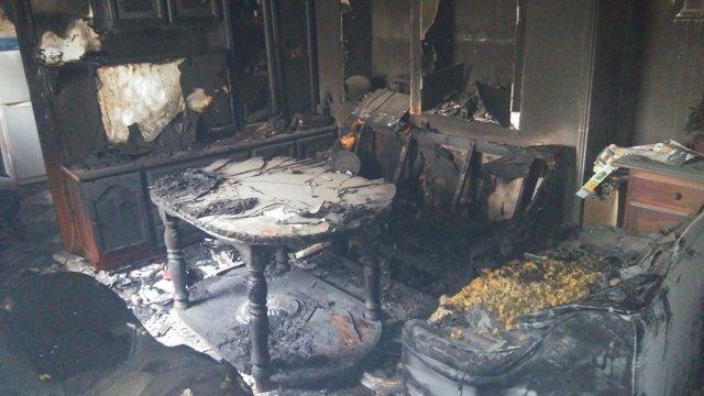 Incendio en una vivienda de Villamartín (Cádiz)