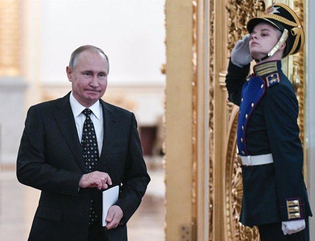 Vladimir Putin en el Kremlin