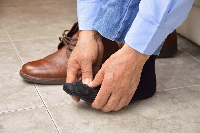Dolor en el pie, ataque de gota