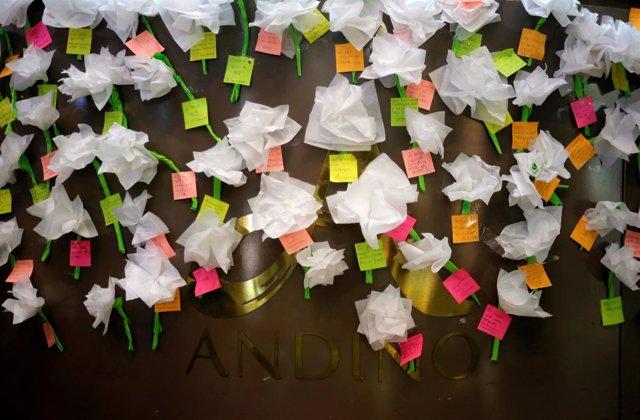 Mensajes para las víctimas de un atentado en Bogotá