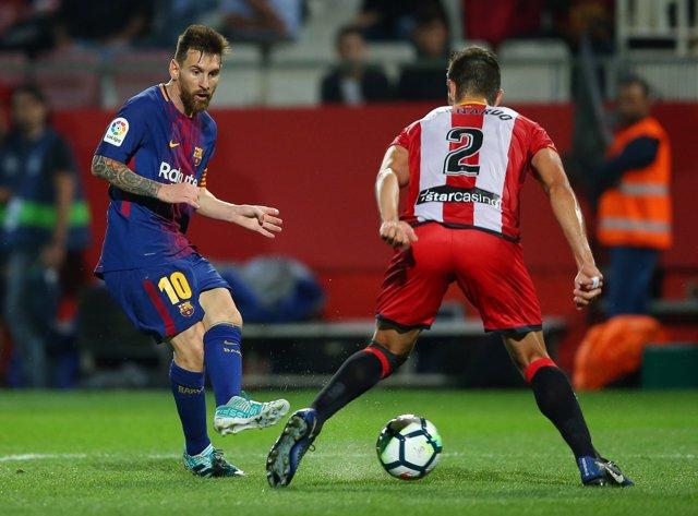 Messi en un Girona-Barcelona en Montilivi