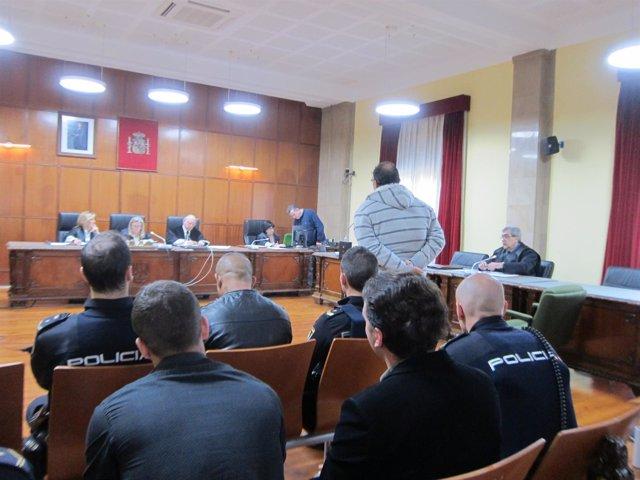 Los condenados, durante el juicio en la Audiencia