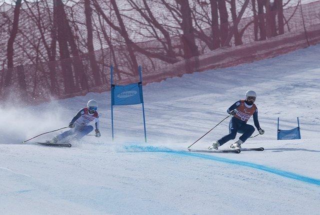 Jon Santana y su guía Miguel Galindo Juegos Paralímpicos PyeongChang