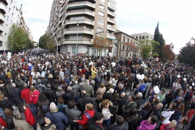 Manifestación contra la fusión hospitalaria en Granada