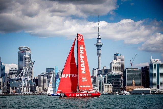 MAPFRE. Regata In Port de Auckland costera Volvo Ocean Race