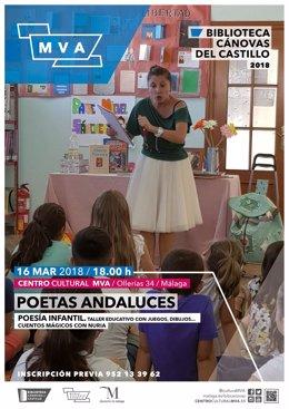 Cartel taller infantil poetas andaluces