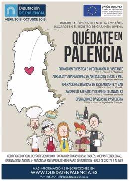 Palencia.- Cartel de la acción 'Quédate en Palencia'