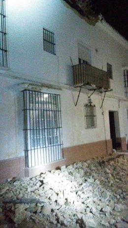 Estado del edificio tras el derrumbe
