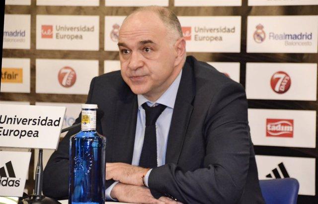 Pablo Laso, entrenador del Real Madrid Basket, durante una entrevista