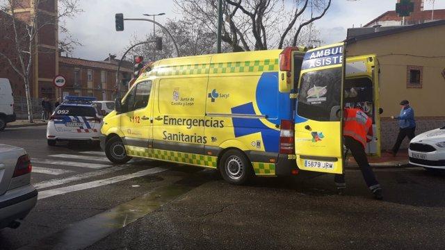 Valladolid.- Ambulancia que atendió al detenido
