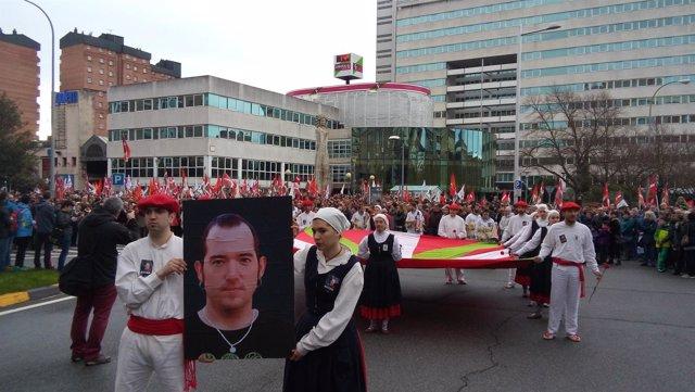 Manifestación en Pamplona contra la política penitenciaria