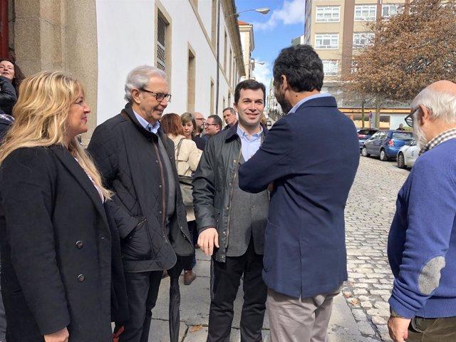 Gonzalo Caballero y Emilio Pérez Touriño en Ferrol