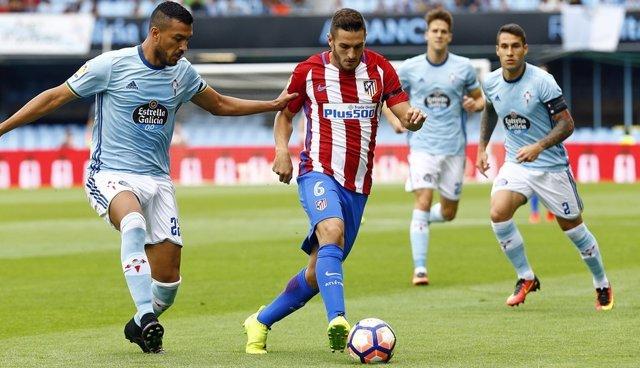 Cabral y Koke Atlético de Madrid contra Celta